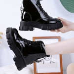 Med Heel Boots with Round Toe 4