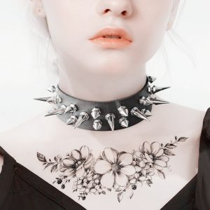 Punk Choker with two rows of Spikes 1