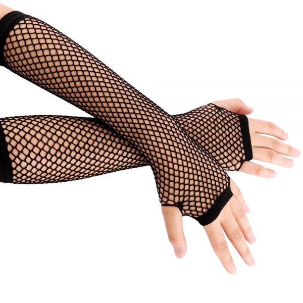 Fishnet Fingerless Long Gloves 1