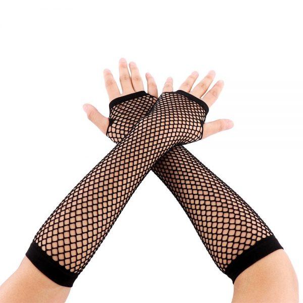Fishnet Fingerless Long Gloves 2