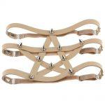 Gothic style Pentagram Garter belt with spikes 3