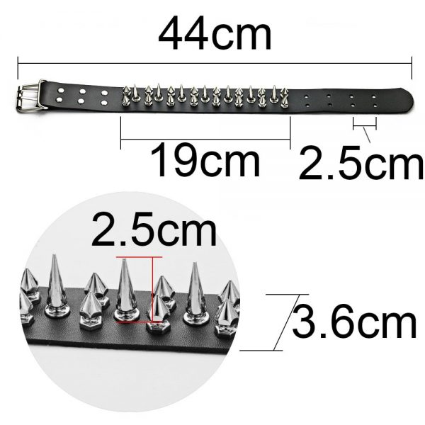 Punk Choker with two rows of Spikes 5