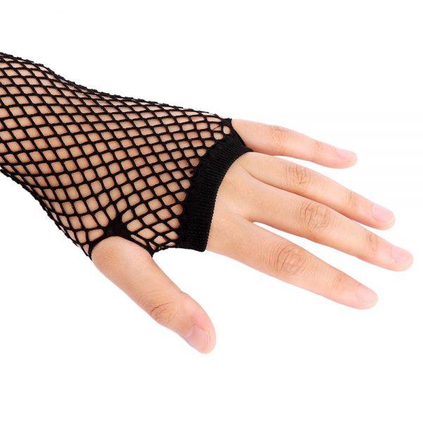 Fishnet Fingerless Long Gloves 3