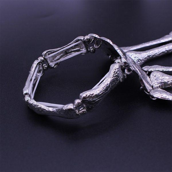 Gothic Punk Skeleton Finger Bracelet 2