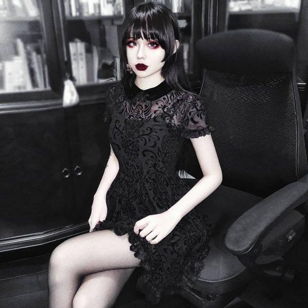 Vintage Lace Gothic Dress 2