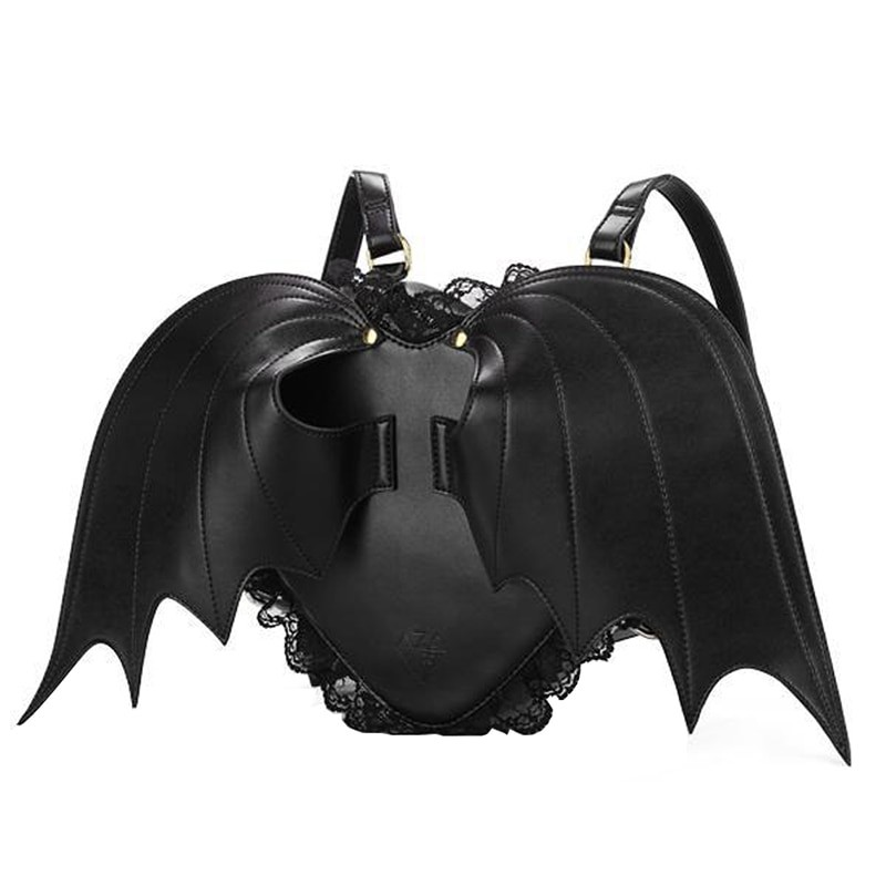 Women Backpack with Bat Wings and Lace 1