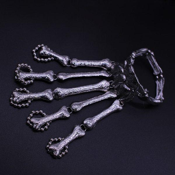 Gothic Punk Skeleton Finger Bracelet 4
