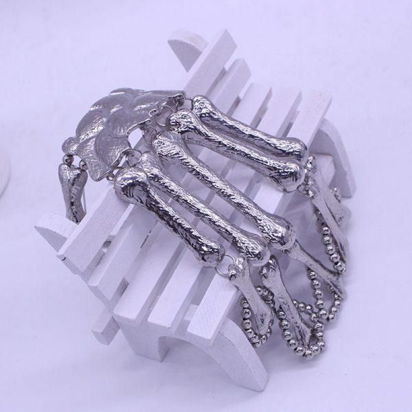 Gothic Punk Skeleton Finger Bracelet 5