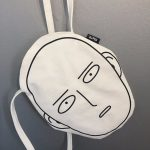 Canvas Shopping Bag with Anime One-Punch Man print 1