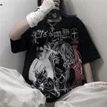Harajuku T-shirts with Anime cartoon print 1