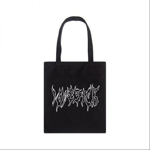 Canvas fashion Shopping-bag with Gothic print 2