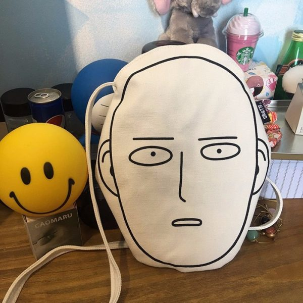 Canvas Shopping Bag with Anime One-Punch Man print 4