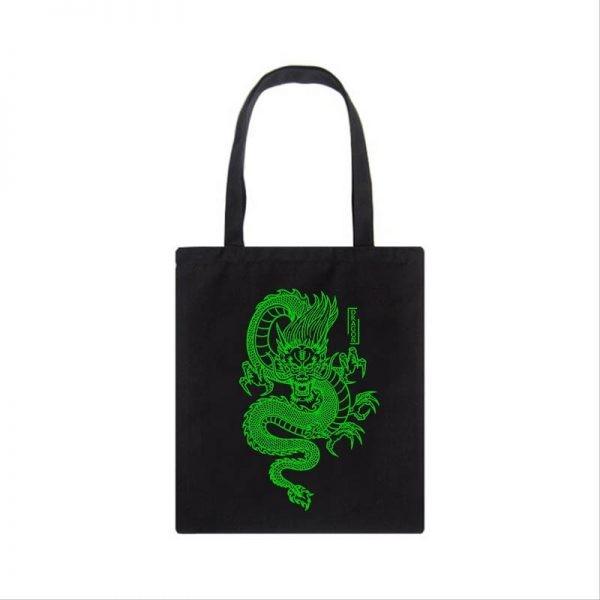 Shopper bag with Dragon Print 3