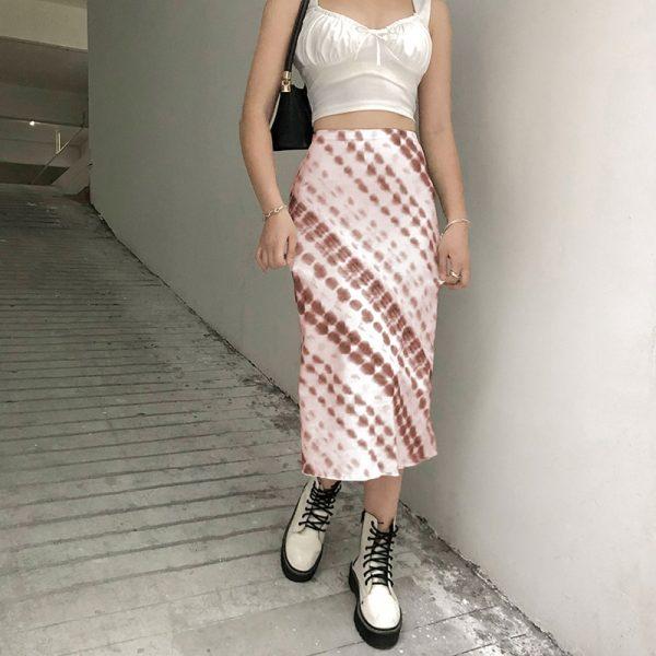 Y2K Long Mid-Calf Straight Skirts 15
