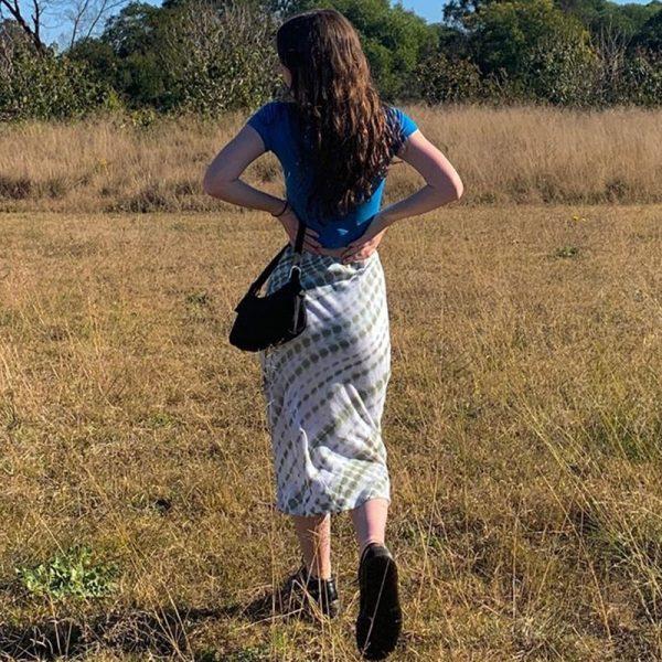 Y2K Long Mid-Calf Straight Skirts 12