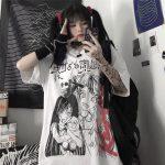 Harajuku T-shirts with Anime cartoon print 6