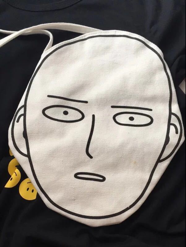 Canvas Shopping Bag with Anime One-Punch Man print 5