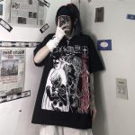 Harajuku T-shirts with Anime cartoon print 3