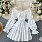 Retro Gothic Mini Dress 1