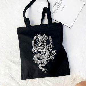 Shopper bag with Dragon Print 1