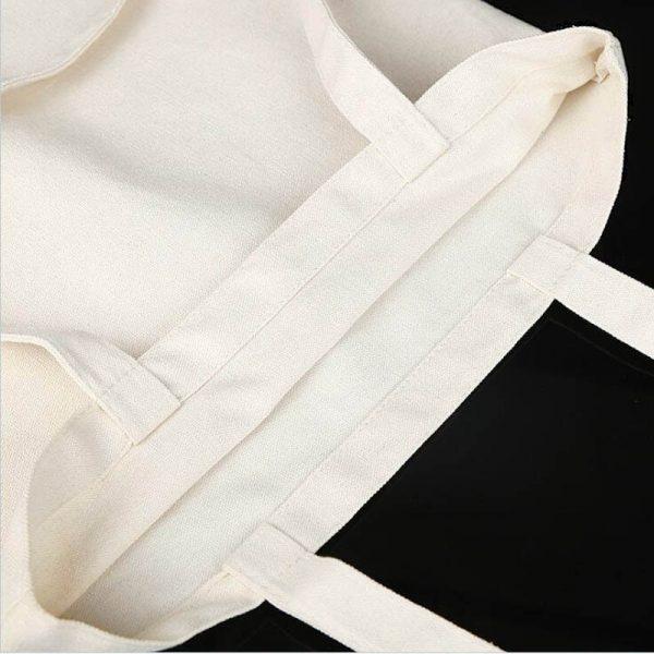 Canvas fashion Shopping-bag with Gothic print 6