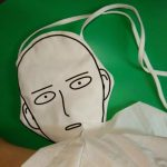 Canvas Shopping Bag with Anime One-Punch Man print 2