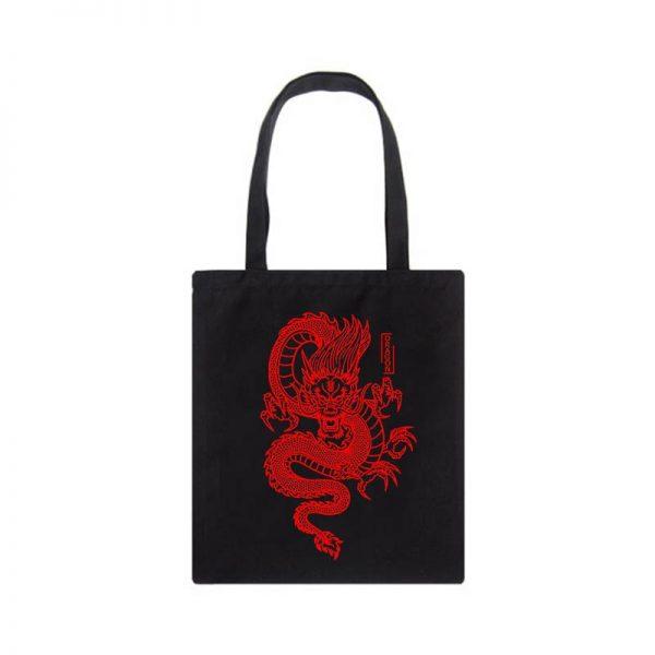 Shopper bag with Dragon Print 4