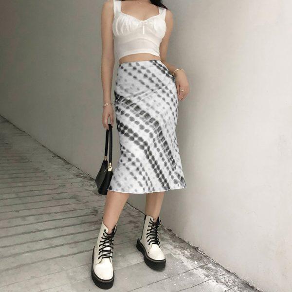 Y2K Long Mid-Calf Straight Skirts 17