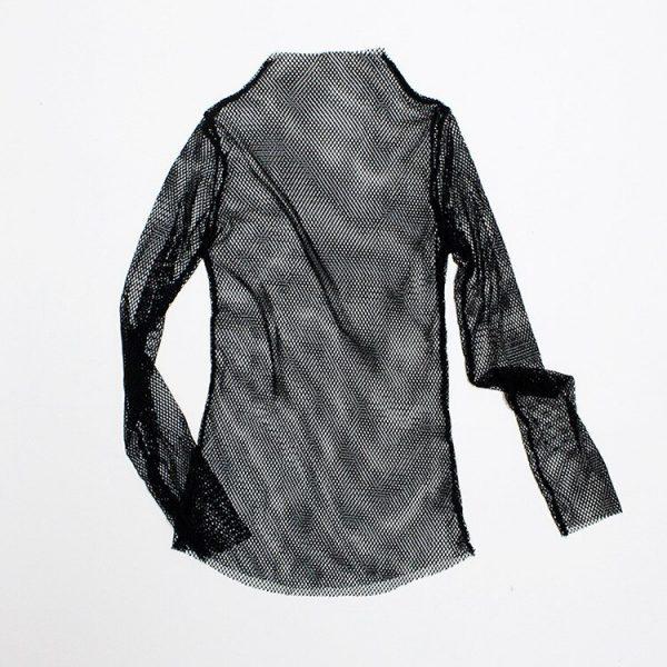 Fishnet Mesh Black shirt 3