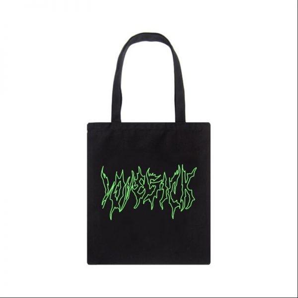 Canvas fashion Shopping-bag with Gothic print 5