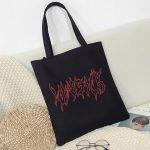 Canvas fashion Shopping-bag with Gothic print 1
