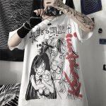 Harajuku T-shirts with Anime cartoon print 5