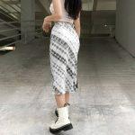 Y2K Long Mid-Calf Straight Skirts 18