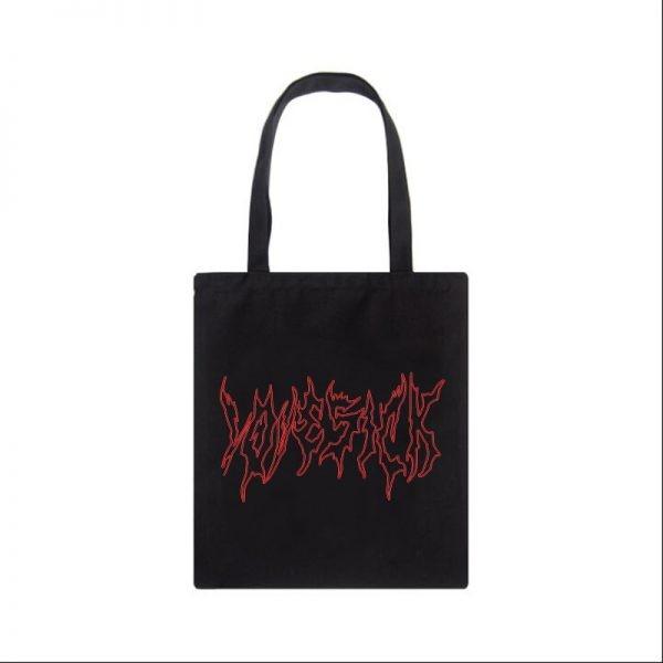 Canvas fashion Shopping-bag with Gothic print 3