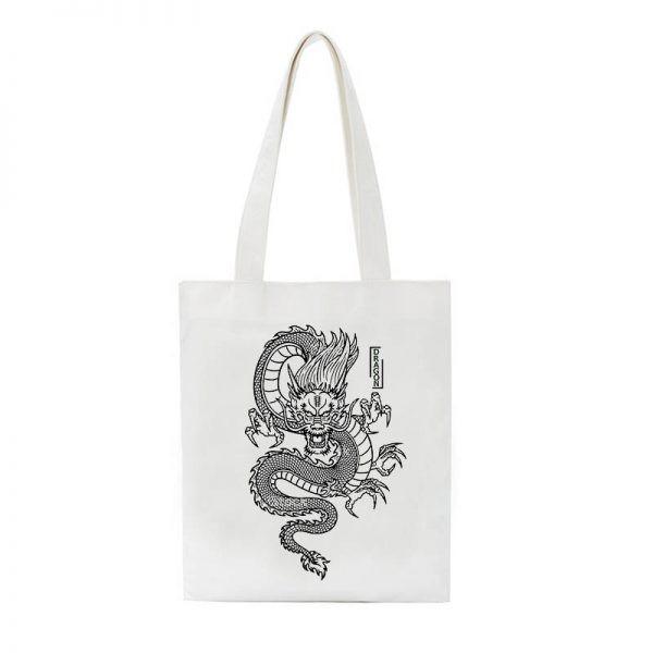 Shopper bag with Dragon Print 5