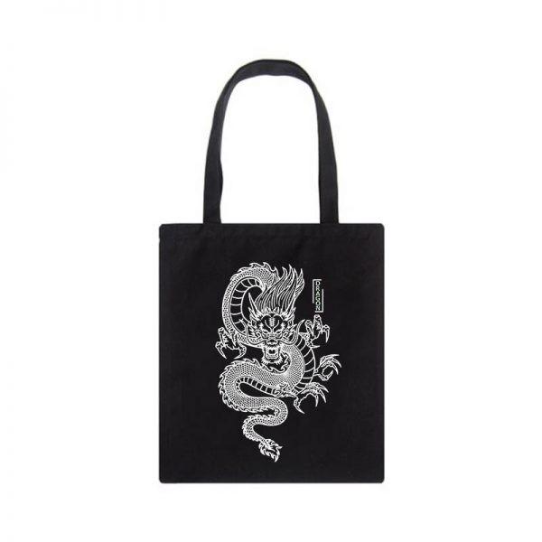 Shopper bag with Dragon Print 2