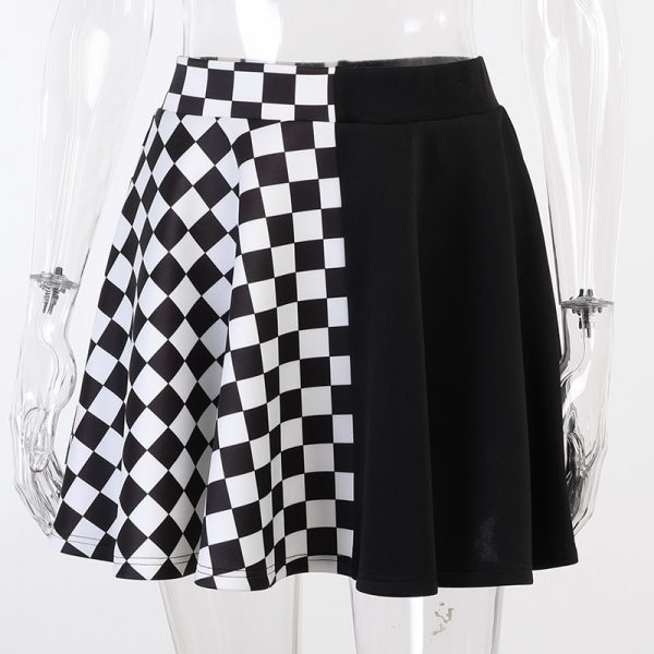 Punk double-sided color Mini Skirt  2
