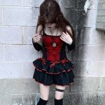 Gothic Top with Spider web Lace 2