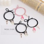 2pcs Set Couple Bracelet with Cute Cartoon Charms Kuromi and My Melody and other 1