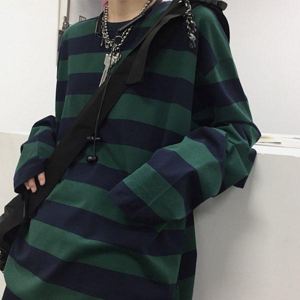 Harajuku Oversized striped t-shirt 4