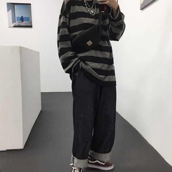 Harajuku Oversized striped t-shirt 3
