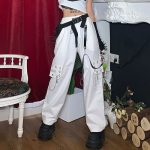 Harajuku Pants for Women with Chain and straps 1