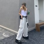 Harajuku Pants for Women with Chain and straps 6