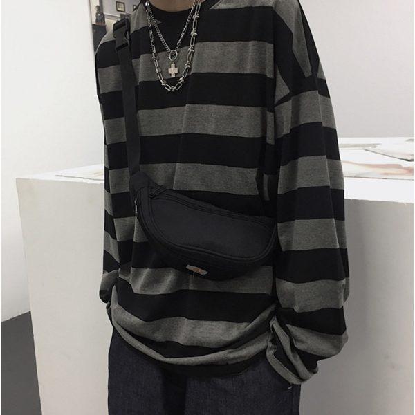 Harajuku Oversized striped t-shirt 5