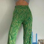 Y2K Zebra Print Straight Pants 43