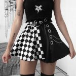 Punk double-sided color Mini Skirt  5
