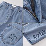 Harajuku Streetwear High Waist Jeans  4