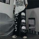 Harajuku Loose pants with Japanese anime print 3