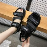 Thick Platform Sandals with Canvas Buckles 2