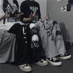 Harajuku Loose pants with Japanese anime print 1